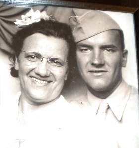 My father and his mother after her returned from WWII
